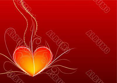 Red heart horizontal