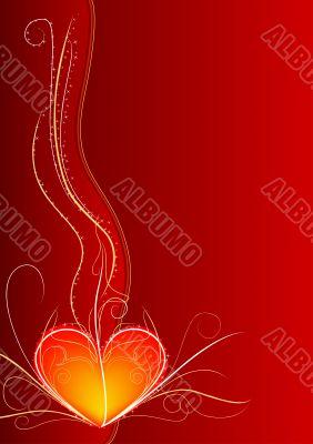 Red heart vertical