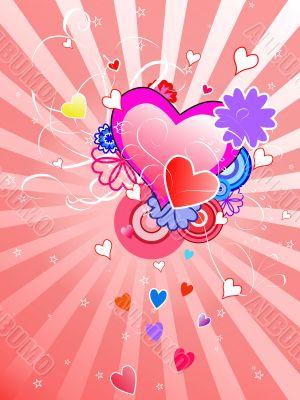 St.Valentine`s Day background
