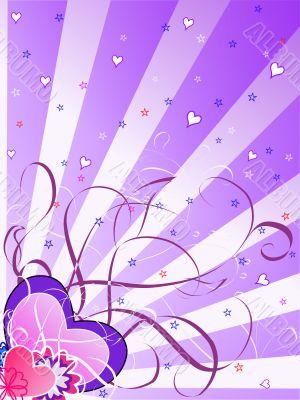St.Valentine`s Day Magenta Background