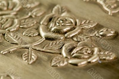 Carved pattern of jewelry box
