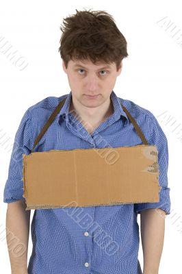 Man and carton tablet