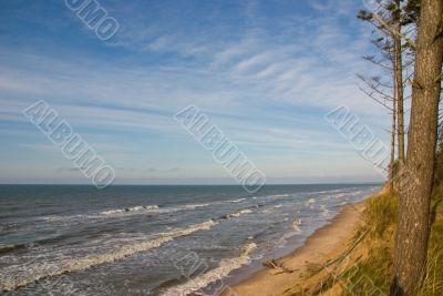 Steep bank at the sea