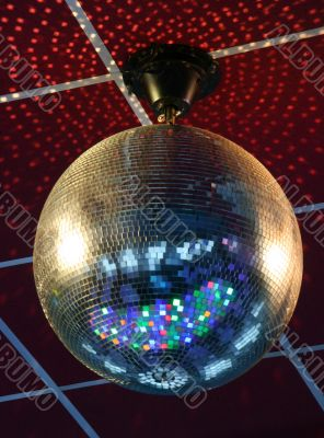 night club lighting ceiling mirror ball
