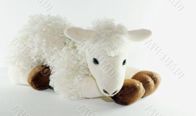 white toy lam