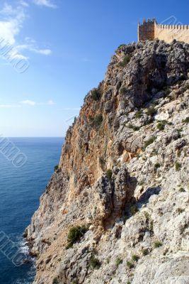 Steep rock and wall