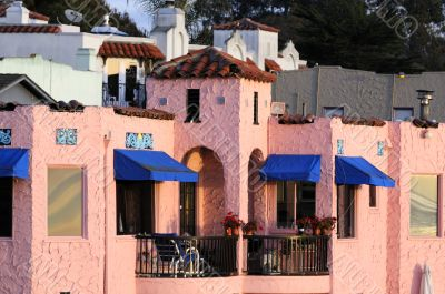 colorful home on the esplanade in Capitola, California