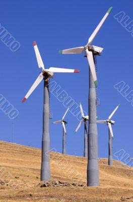 Wind generators farm