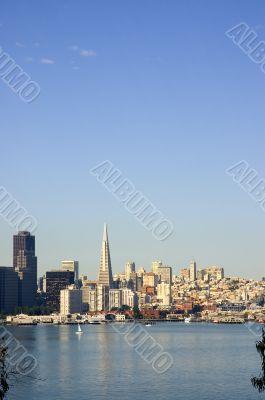 Morning skyline of San Francisco, California