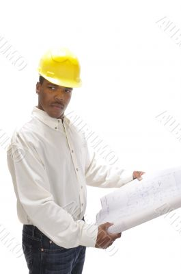 young African American contractor
