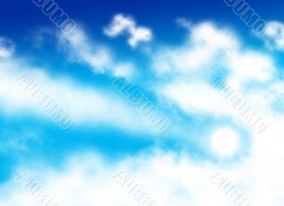 Comet shaped cloud