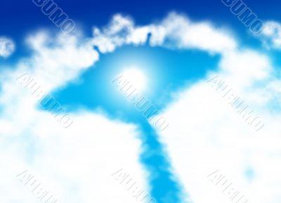 Alien spaceship shaped cloud