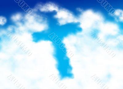 Cross shaped cloud