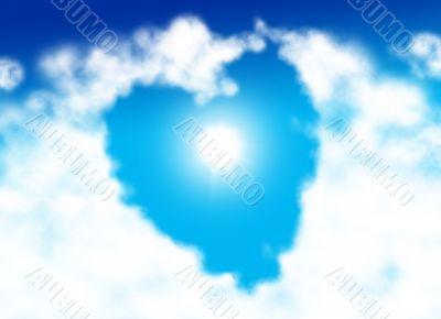 Heart shaped cloud Heart shaped cloud