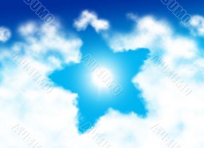 Star shaped cloud