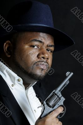 African American with a gun