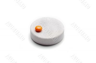big tablet and small pill