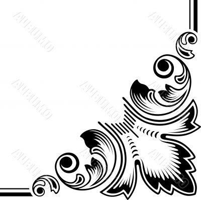 dingbat floral elements vectorized scroll design.