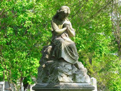 old Angel sculpture statue