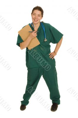female nurse or doctor