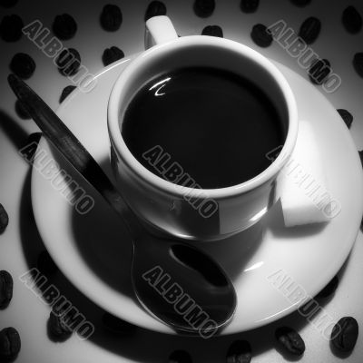 Coffe cup and square