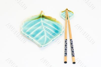 chopsticks with plate