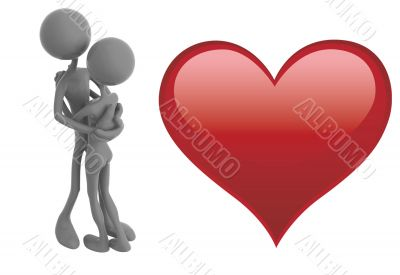 Couples and heart 1