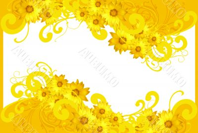 spring floral yellow background