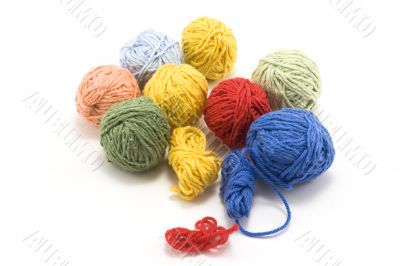 Ball of the colour threads 4
