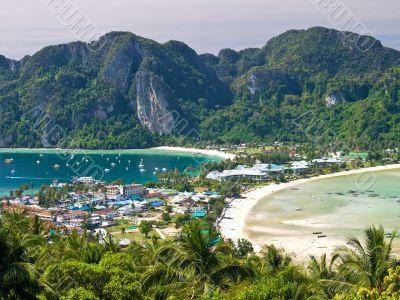Tropical island. Bird eye view
