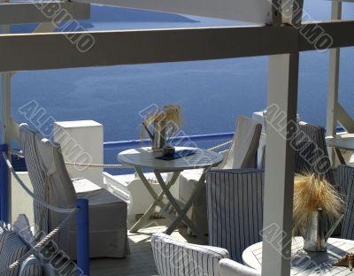 Terrace cafe on resort