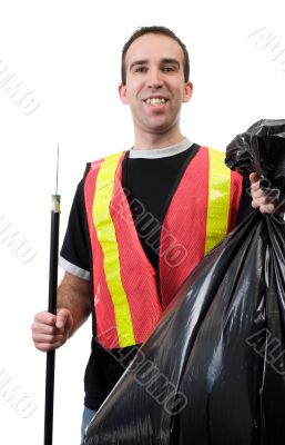 Happy Garbage Cleaner