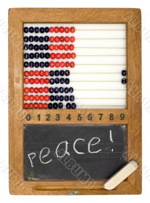 Children`s school board and abacus
