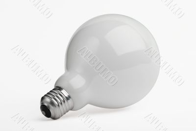Huge light bulb isolated on white