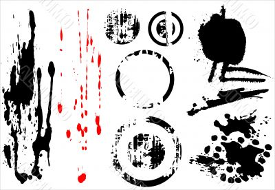 Grungy blobs and element