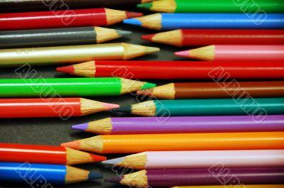 Pencil crayon rows