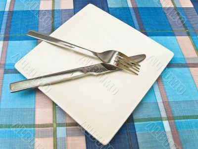 dish at tablecloth