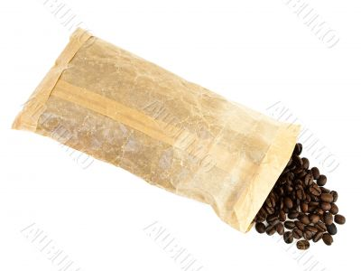 coffee beans in pack