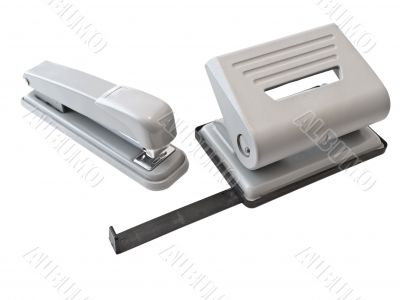 hole puncher and stapler