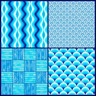 4 square pattern graphic blue
