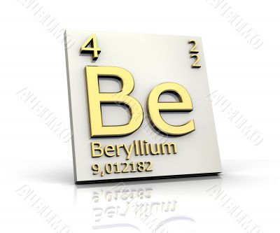 Beryllium from Periodic Table of Elements