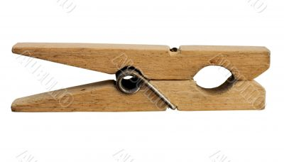 Wooden clothes-peg