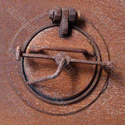 Old rusty fan shutter