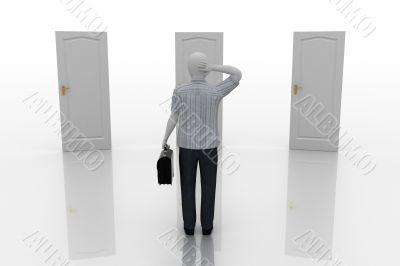 3d human making a choice