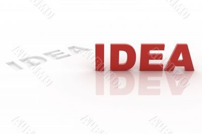 Idea cut out from background