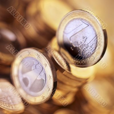 Euro coin currency money cash