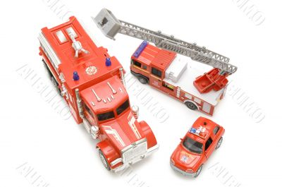 fire brigade on white background