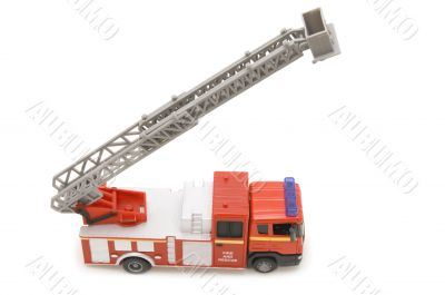 fire engine on white