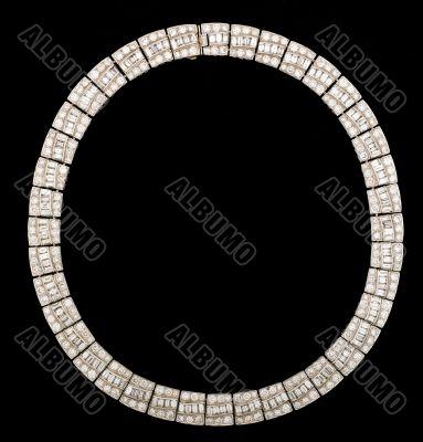 diamond encrusted necklace