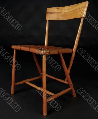 Wood and Leather Iconic Modern  Design Chair